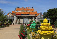 Temple at the river kwai Royalty Free Stock Photography