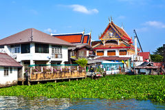 Temple at the river Mae Nam Chao Phraya Royalty Free Stock Image
