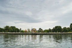 Temple on the riverside in Bangkok Royalty Free Stock Photo