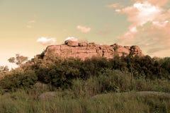 Precambrian granite rock in Ukraine stock photos