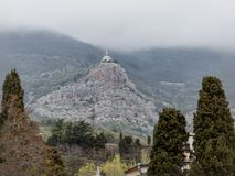 Temple on rock in south mountain area Royalty Free Stock Photography