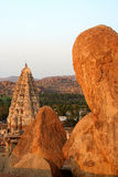 Temple and rocks Royalty Free Stock Images