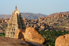 Temple among rocks Royalty Free Stock Photo