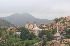 Temple on rocky mountain Royalty Free Stock Photos