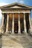 Temple romain à Nîmes France Image stock