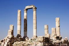 Temple romain, Amman, Jordanie Photo stock