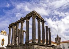 Temple romain d'Evora image stock