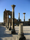 Temple romain dans Volubilis Photographie stock libre de droits