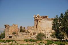 Temple romain de bacchus de ruines Photos stock