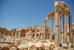 Temple romain de bacchus de ruines Photographie stock libre de droits