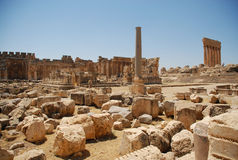 Temple romain de bacchus de ruines Photo libre de droits