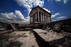 Temple romain de temps en Arménie Garni photo stock