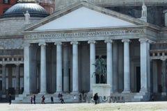 Temple romain extérieur d'église Images stock