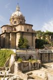 Temple on Roman forum Stock Images