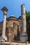 Temple Of Romulus in Roman Forum in city of Rome, Italy. ROME, ITALY - JUNE 24, 2017: Temple Of Romulus in Roman Forum in city of Rome, Italy Royalty Free Stock Photos