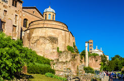Temple of Romulus in Roman Forum Royalty Free Stock Photos