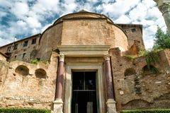 Temple of Romulus in the Roman Forum, Rome Stock Photo