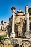 Temple of Romulus in the Roman Forum, Rome, Italy Royalty Free Stock Photography
