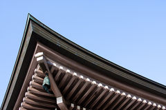 Temple roof. Japanese temple roof in Kyoto, Japan Royalty Free Stock Photography