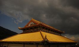Temple roof. The roof of a buddhism temple Royalty Free Stock Photo