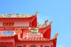 Temple roof Stock Images