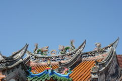 Temple roof. Roof of a temple in Jonker Street Malacca Royalty Free Stock Image