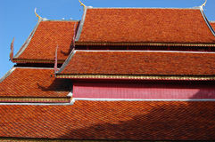 Temple roof. From northern Thailand Royalty Free Stock Images