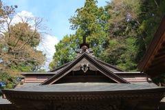Temple roof of  Arakura Sengen Shrine. The  temple roof of  Arakura Sengen Shrine Royalty Free Stock Photos