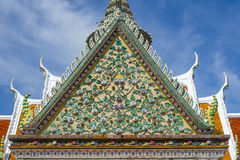 Temple roof. Art on Thai temple roof royalty free stock images