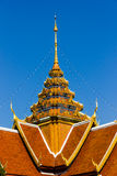 Thai style roof temple. Temple Roof art In Thailand Stock Images