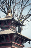 Temple roof,Bhairab temple,Durbar Square,  Nepal Royalty Free Stock Photography