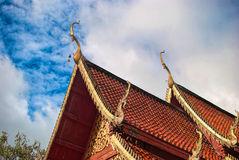 Temple roof. And blue sky Royalty Free Stock Image