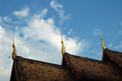 Temple roof. In Chiang mai, Thailand Royalty Free Stock Photography