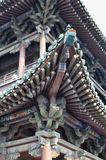 Temple roof detail in Pingyao, China royalty free stock images