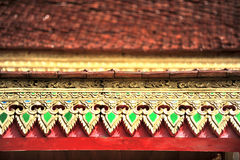 Temple roof detail Royalty Free Stock Image