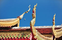 Temple roof detail Royalty Free Stock Photography