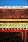 Temple roof detail Stock Photo