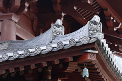 Temple roof eave Stock Images