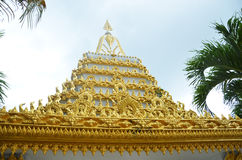The temple roof. Filmed in Thailand Taktshang Goemba Royalty Free Stock Image