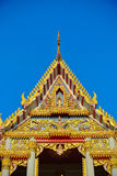 Temple roof the gables. Stock Photo