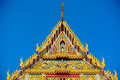 Temple roof the gables. Royalty Free Stock Photos