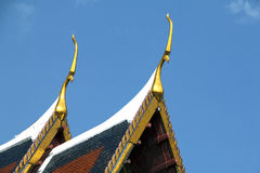 Temple Roof. Gold gable apex of Thai temple Stock Image