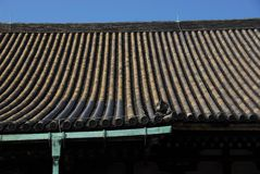 Temple roof gutter Royalty Free Stock Photos