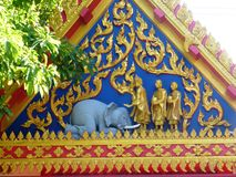 Temple Roof in Hua Hin Stock Image