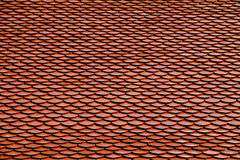 Temple Roof Pattern. Red Brown Color Temple Roof Pattern Royalty Free Stock Photography