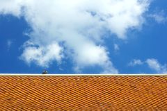 Temple roof. Pattern on Thai temple roof stock photography