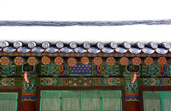 Temple roof. Sinheungsan Temple, Seoraksan National Park, South Korea stock photo