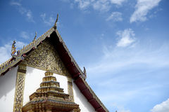 Temple roof and sky. Temple roof and blue sky Royalty Free Stock Photo
