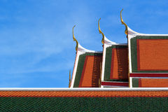 Temple roof of sky Royalty Free Stock Photos