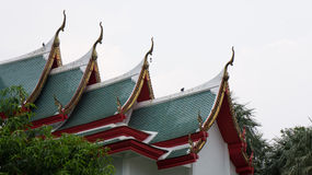 Temple roof. Temple roof style of Thailand Royalty Free Stock Photography